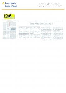 article les echos judiciaires crowe horwath france